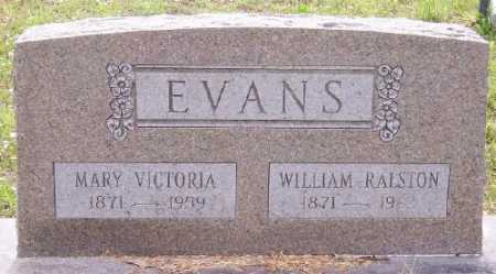 EVANS JR., WILLIAM RALSTON - Marion County, Arkansas | WILLIAM RALSTON EVANS JR. - Arkansas Gravestone Photos