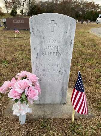 FLIPPIN (VETERAN WWII), JIM DON - Marion County, Arkansas | JIM DON FLIPPIN (VETERAN WWII) - Arkansas Gravestone Photos