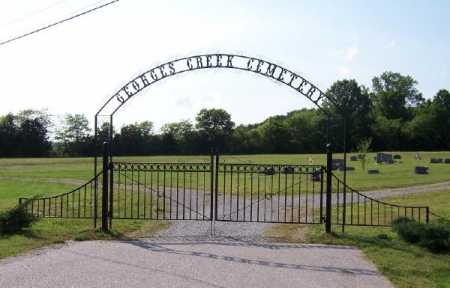 *GEORGES CREEK CEMETERY GATE,  - Marion County, Arkansas |  *GEORGES CREEK CEMETERY GATE - Arkansas Gravestone Photos