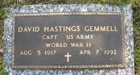 GEMMELL (VETERAN WWII), DAVID HASTINGS - Marion County, Arkansas | DAVID HASTINGS GEMMELL (VETERAN WWII) - Arkansas Gravestone Photos