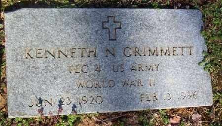 GRIMMETT (VETERAN WWII), KENNETH N. - Marion County, Arkansas | KENNETH N. GRIMMETT (VETERAN WWII) - Arkansas Gravestone Photos