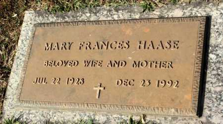 HAASE, MARY FRANCES - Marion County, Arkansas | MARY FRANCES HAASE - Arkansas Gravestone Photos