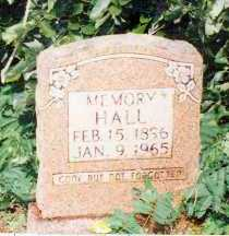 HALL, MEMORY - Marion County, Arkansas | MEMORY HALL - Arkansas Gravestone Photos
