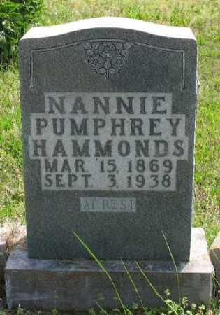 PUMPHREY HAMMONDS, NANNIE - Marion County, Arkansas | NANNIE PUMPHREY HAMMONDS - Arkansas Gravestone Photos
