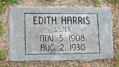 HARRIS, EDITH - Marion County, Arkansas | EDITH HARRIS - Arkansas Gravestone Photos