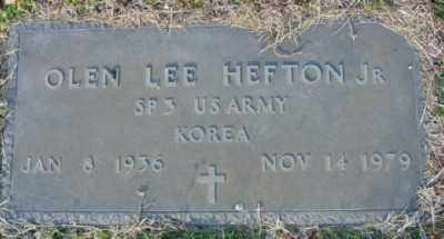 HEFTON JR (VETERAN KOR), OLEN LEE - Marion County, Arkansas | OLEN LEE HEFTON JR (VETERAN KOR) - Arkansas Gravestone Photos