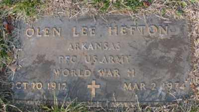 HEFTON (VETERAN WWII), OLEN LEE - Marion County, Arkansas | OLEN LEE HEFTON (VETERAN WWII) - Arkansas Gravestone Photos