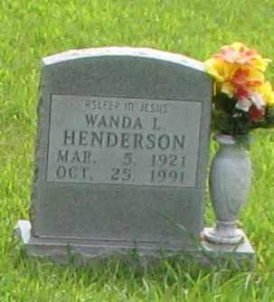 HENDERSON, WANDA L. - Marion County, Arkansas | WANDA L. HENDERSON - Arkansas Gravestone Photos