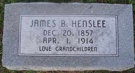 HENSLEE, JAMES B. - Marion County, Arkansas | JAMES B. HENSLEE - Arkansas Gravestone Photos