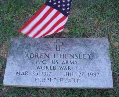 HENSLEY (VETERAN WWII), ADREN I. - Marion County, Arkansas | ADREN I. HENSLEY (VETERAN WWII) - Arkansas Gravestone Photos