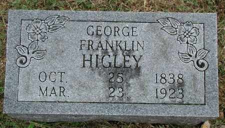 HIGLEY, GEORGE FRANKLIN - Marion County, Arkansas | GEORGE FRANKLIN HIGLEY - Arkansas Gravestone Photos