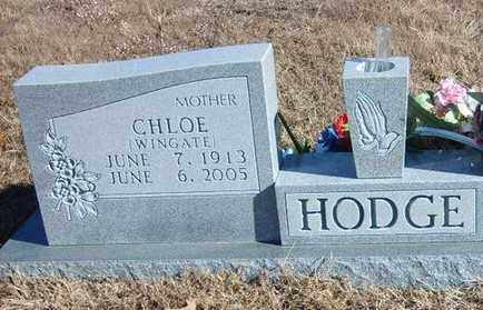 WINGATE HODGE, CHLOE - Marion County, Arkansas | CHLOE WINGATE HODGE - Arkansas Gravestone Photos