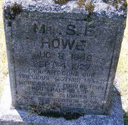 HOWE, MRS. S. E. - Marion County, Arkansas | MRS. S. E. HOWE - Arkansas Gravestone Photos