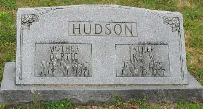 HUDSON, BERTIE - Marion County, Arkansas | BERTIE HUDSON - Arkansas Gravestone Photos