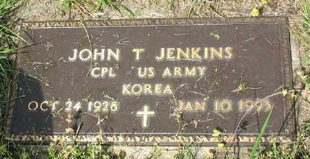 JENKINS (VETERAN KOR), JOHN T - Marion County, Arkansas | JOHN T JENKINS (VETERAN KOR) - Arkansas Gravestone Photos