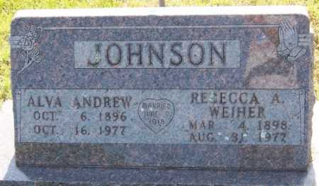 JOHNSON, ALVA ANDREW - Marion County, Arkansas | ALVA ANDREW JOHNSON - Arkansas Gravestone Photos