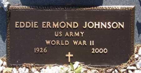 JOHNSON (VETERAN WWII), EDDIE ERMOND - Marion County, Arkansas | EDDIE ERMOND JOHNSON (VETERAN WWII) - Arkansas Gravestone Photos