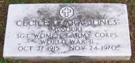 JONES (VETERAN WWII), CECILE OLARA - Marion County, Arkansas | CECILE OLARA JONES (VETERAN WWII) - Arkansas Gravestone Photos