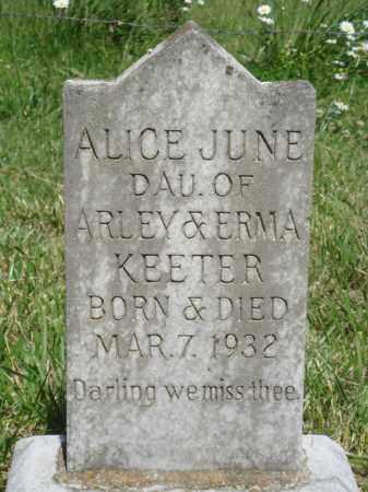 KEETER, ALICE JUNE - Marion County, Arkansas   ALICE JUNE KEETER - Arkansas Gravestone Photos