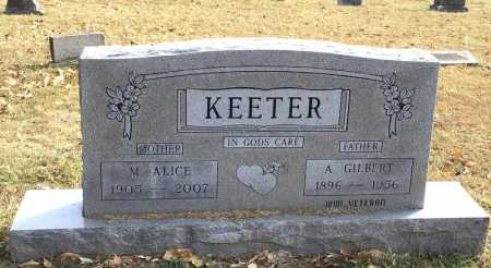 KEETER, A. GILBERT - Marion County, Arkansas | A. GILBERT KEETER - Arkansas Gravestone Photos