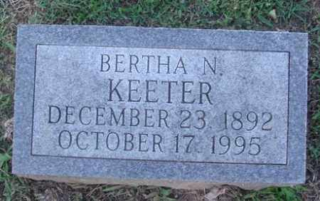 KEETER, BERTHA N. - Marion County, Arkansas | BERTHA N. KEETER - Arkansas Gravestone Photos