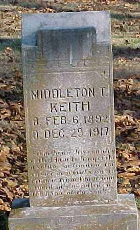 KEITH (VETERAN WWI), MIDDLETON T - Marion County, Arkansas | MIDDLETON T KEITH (VETERAN WWI) - Arkansas Gravestone Photos