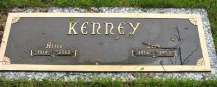 KENNEY, ALICE - Marion County, Arkansas | ALICE KENNEY - Arkansas Gravestone Photos