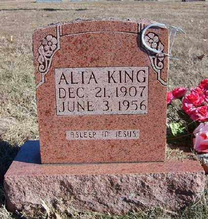 KING, ALTA - Marion County, Arkansas | ALTA KING - Arkansas Gravestone Photos