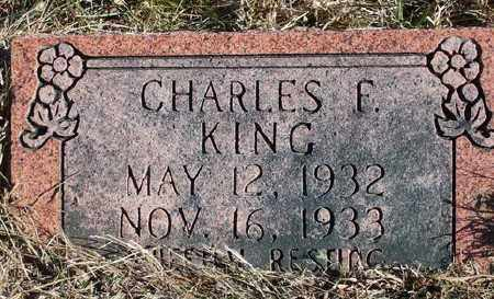 KING, CHARLES F. - Marion County, Arkansas | CHARLES F. KING - Arkansas Gravestone Photos