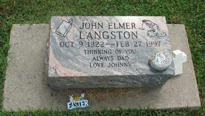 LANGSTON, JOHN ELMER - Marion County, Arkansas | JOHN ELMER LANGSTON - Arkansas Gravestone Photos