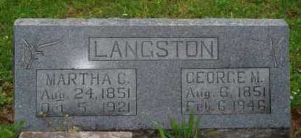 LANGSTON, GEORGE M. - Marion County, Arkansas | GEORGE M. LANGSTON - Arkansas Gravestone Photos
