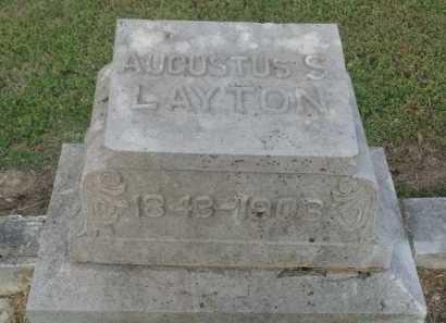 LAYTON, AUGUSTUS S. - Marion County, Arkansas | AUGUSTUS S. LAYTON - Arkansas Gravestone Photos