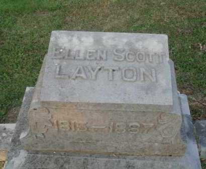 SCOTT LAYTON, ELLEN - Marion County, Arkansas | ELLEN SCOTT LAYTON - Arkansas Gravestone Photos
