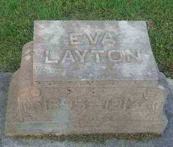 LAYTON, EVA - Marion County, Arkansas | EVA LAYTON - Arkansas Gravestone Photos