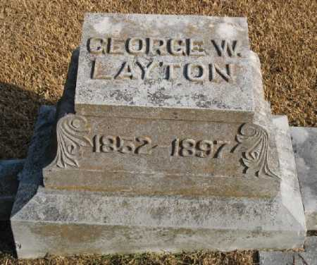 LAYTON, GEORGE W. - Marion County, Arkansas | GEORGE W. LAYTON - Arkansas Gravestone Photos