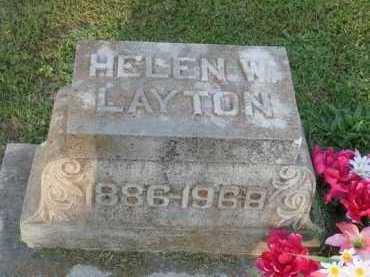 LAYTON, HELEN W. - Marion County, Arkansas | HELEN W. LAYTON - Arkansas Gravestone Photos
