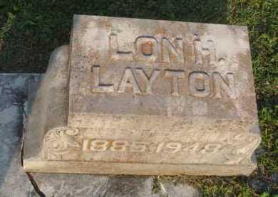 "LAYTON, LEONIDAS HART ""LON"" - Marion County, Arkansas | LEONIDAS HART ""LON"" LAYTON - Arkansas Gravestone Photos"