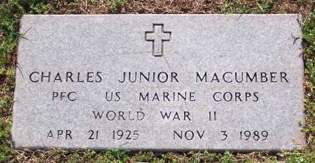 MACUMBER (VETERAN WWII), CHARLES JUNIOR - Marion County, Arkansas | CHARLES JUNIOR MACUMBER (VETERAN WWII) - Arkansas Gravestone Photos