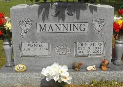 MANNING, JOHN ALLEN - Marion County, Arkansas | JOHN ALLEN MANNING - Arkansas Gravestone Photos