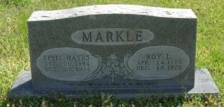 HAYES MARKLE, EFFIE - Marion County, Arkansas | EFFIE HAYES MARKLE - Arkansas Gravestone Photos