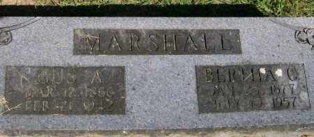 MARSHALL, GUS A. - Marion County, Arkansas | GUS A. MARSHALL - Arkansas Gravestone Photos