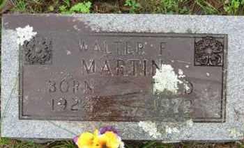 MARTIN, WALTER F. - Marion County, Arkansas | WALTER F. MARTIN - Arkansas Gravestone Photos