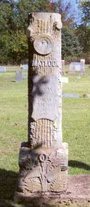 MATLOCK, M. - Marion County, Arkansas | M. MATLOCK - Arkansas Gravestone Photos