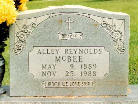 "REYNOLDS MCBEE, ALABAMA ""ALLEY"" - Marion County, Arkansas 
