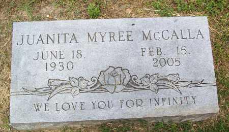 MCCALLA, JUANITA MYREE - Marion County, Arkansas | JUANITA MYREE MCCALLA - Arkansas Gravestone Photos