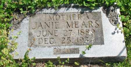 MEARS, JANIE - Marion County, Arkansas | JANIE MEARS - Arkansas Gravestone Photos