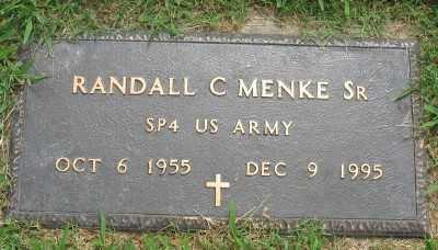 MENKE, SR. (VETERAN), RANDALL C. - Marion County, Arkansas | RANDALL C. MENKE, SR. (VETERAN) - Arkansas Gravestone Photos