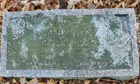 MERRIMAN, ALICE J. - Marion County, Arkansas | ALICE J. MERRIMAN - Arkansas Gravestone Photos
