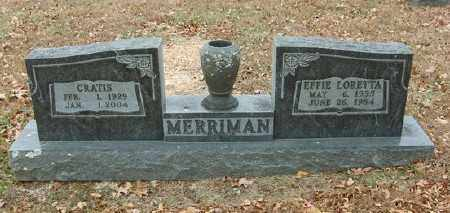 MERRIMAN, CRATIS - Marion County, Arkansas | CRATIS MERRIMAN - Arkansas Gravestone Photos