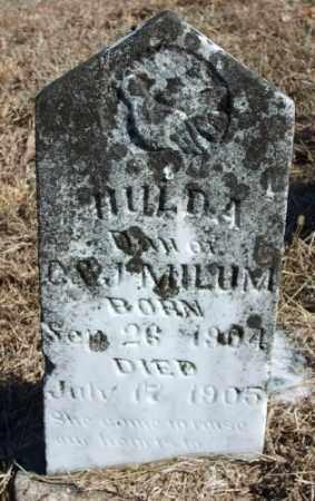 MILUM, HULDA - Marion County, Arkansas | HULDA MILUM - Arkansas Gravestone Photos